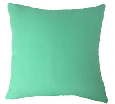 Aa144a Plain Turquoise Green Cotton Canvas Cushion Cover/Pillow Case*Custom Size