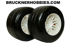 1:5 GRP F1 REAR car tires on white rims (2) GWH66-S3 Extra Soft - FAST DELIVERY!