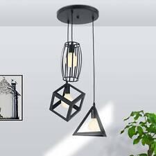Deckenlampe Hängeleuchte schwarz Metall Draht Vintage Industrie Retro  KäfigE27