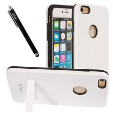 ELV iPhone 6Plus Dual Layer Armor Defender Case +Stylus+Screen Protector -White