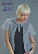 KNITTING PATTERN BOOK Wendy Air 356 Ladies KNITTING PATTERN BOOK