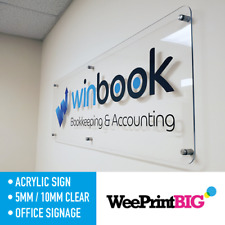 Acrylic Business Plaque House Number Sign Printed Logo Address Signage