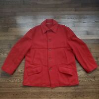 Chippewa Wool Jacket Peacoat Overcoat Mens 50 Luxury Winter Red USA