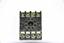Octal 8 pin round relay base PF 083A  10 amp rated DIN mounting UK seller