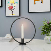 Nordic Style Design Round Candlestick Metal Candle Holder Home Wall Decor