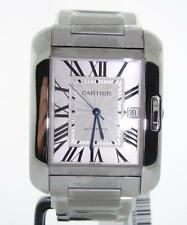 Cartier Tank Anglaise Large Mens Stainless Steel w5310008