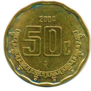 COIN / MEXICO  50 CENTAVOS  2004     #WT14193
