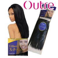 "Original Outre Micro Yaki 100 Human Hair Weave - 8"" black color"