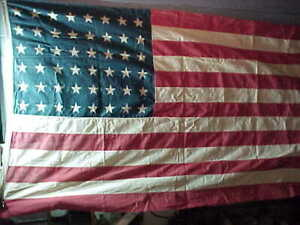 Orig WWII US Home Front 48 STAR US FLAG 66 x 42