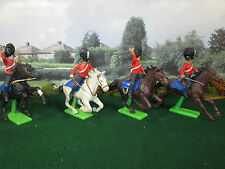65FP LOT OF 4 BRITAIN'S DEETAIL 1971 BRITISH DRAGOONS MOUNTED CHARGING CAVALRY