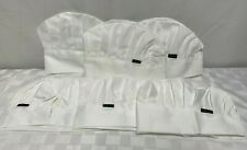 6 HIYUMY Chef Hats Adjustable Cotton Caps for Adult White