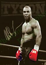 Mike TYSON Boxing Signed Movie Film Photo Poster Print Wall Art A4 GIFT Sport