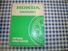 BB 68MC900 Manual De Taller HONDA CB 450 SC G ediz. 1986