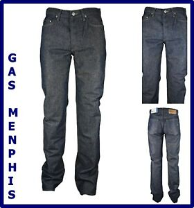 jeans gas uomo regular fit menphis svasati a gamba dritta vita alta 46 w31 w32