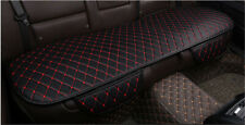 Non-slip Car SUV Rear Seat Cushion Pad Black PU Leather with Red Lines Seam Mat
