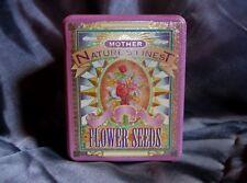 Vintage Mother Nature Flower seeds tin box