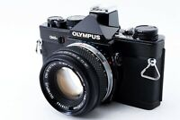 N-Mint 🌟 Olympus OM-2N Black 35mm SLR Film Camera + Zuiko 50mm F/1.8 from Japan