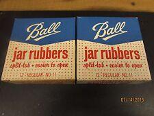 2 BOXES VINTAGE BALL JAR RUBBER SEALS SPLIT TAB FOR REGULAR NO. 11 NOS