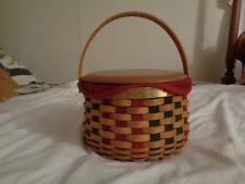 Longaberger Christmas Caroling Basket Combo with Wood Lid 2003