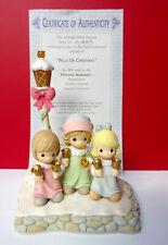 Rare Precious Moments Holiday Festival Bells Of Christmas Illuminates Figurine