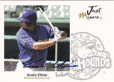 ANDRE ETHIER MIDLAND ROCKHOUNDS SIGNED 2005 BASEBALL CARD LOS ANGELES DODGERS