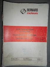 BERNARD moteur diesel 51 : Catalogue pièces 1975