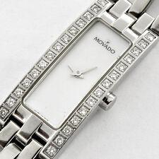 "Pre-owned Movado Esperanza Ladies Baguette Diamond Dress Watch Restored 7"" L"