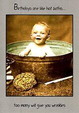 Cumpleaños son como baños calientes gracioso Tarjeta De Cumpleaños Humor Tarjetas de felicitación