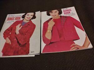 Vintage McCall's Bonus Books Sewing Patterns Catalog Dresses Fashions 1960-61