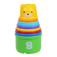 9 Stacking Learning Number Cups Tower Baby and Toddler Activity TOY G6D7 S2M1
