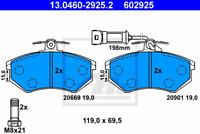 Bremsbelagsatz Scheibenbremse - ATE 13.0460-2925.2