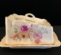 Porcelain Covered Cheese Or Butter Dish Made In Germany c. 1900-30's