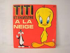 Disque 45T vinyl dessin animé série TV Titi et Sylvestre à la neige Warner Bros