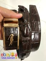Men's Belt - Genuine Crocodile/Alligator Skin Leather-BIG Wicker - Handmade Belt