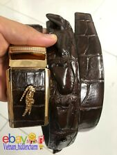 Men's Belt - Genuine Crocodile/Alligator Skin Leather-BIG Wicker - Handmade Belt