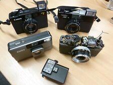 Canon A35F 40/2.8 Yashica MF-1 38/2.8 Konica BIG MINI FOTOCAMERE OLYMPUS TRIP 35mm