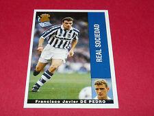 F. J. DE PEDRO FUTBOL REAL SOCIEDAD PANINI LIGA 95-96 ESPANA 1995-1996 FOOTBALL
