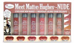 MEET MATTE HUGHES®-NUDE Set of 6 Mini Long-Lasting Liquid Lipsticks-LTD Edition