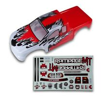 1:5 Redcat Rampage Monster RC Truck Red & White Body Shell With Decals MT XT