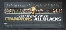 NEW ZEALAND ALL BLACKS RUGBY WORLD CUP CHAMPIONS PRINT MCCAW CARTER