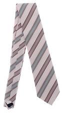 Seidenkrawatte gestreift rosa grau 100% Seide Krawatte von Monti Mode elegant