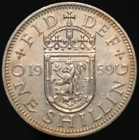 1959 | Elizabeth II 'Scottish' One Shilling 'Key Date' | Coins | KM Coins