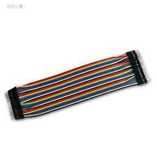 Verbinder für Laborsteckboard, 40er Set, Stecker - Stecker, Steckbrücken Kabel