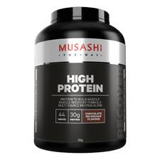 MUSASHI HIGH PROTEIN POWDER, CHOCOLATE MILKSHAKE, VANILA MILK SHAKE.