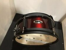 sound percussion 12 x 5 snare drum, metallic wine red with black