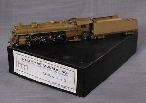 Hallmark HO Brass ILLINOIS CENTRAL 4-8-2 Steam Locomotive + Tender UNUSED in Box