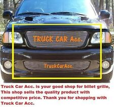 For FORD F150 Lightning 1999-2002 2003 Polished Grille 2PC Combo REPLACEMENTS