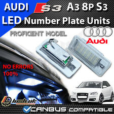 * NEW AUDI A3 S3 8P & CABRIOLET NUMBER PLATE LED UNITS CANBUS ERROR FREE 18 SMD