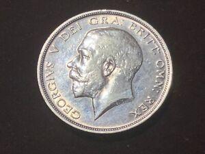 1915 Great Britain Silver Half Crown High Grade KM 818.1