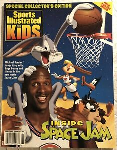 1997 Sports Illustrated for kids MICHAEL JORDAN NewsStand SPACE JAM With Poster